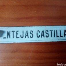 Carteles: CARTEL CHAPA ESMALTADA, LENTEJAS CASTILLA. Lote 104723240
