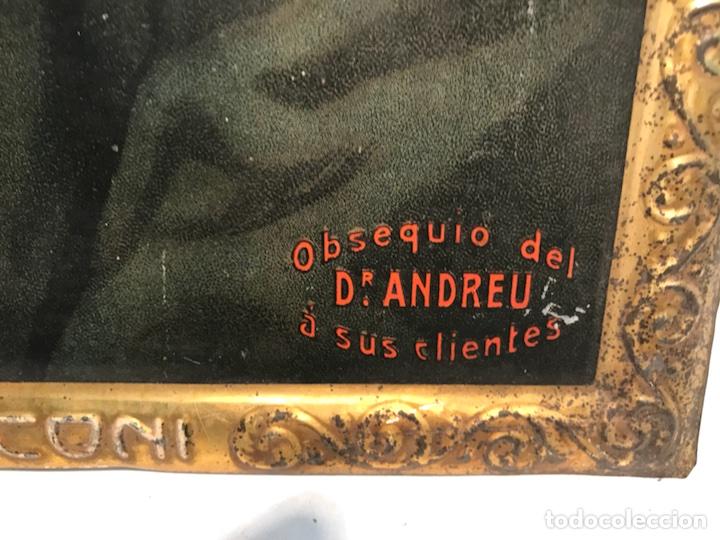 Carteles: CHAPA LITOGRAFIADA PUBLICITARIA DR. ANDREU, HOMBRES CELEBRES MARCONI. ORIGINAL. - Foto 4 - 104965871