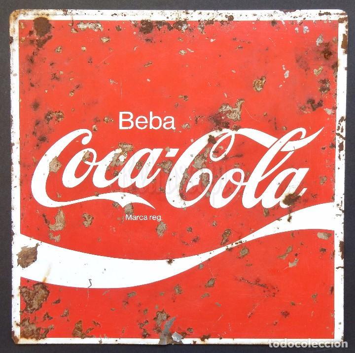 Chapa placa publicidad de cocacola beba coca co comprar - Chapa coca cola pared ...
