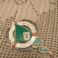 Carteles: MOTRIL GRANADA CLUB NAUTICO CHAPA ESMALTADA 10X6 CMS. Lote 106656130