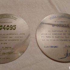 Carteles: LOTERIA DEL HUMOR,( ZAMORA) LOS INICIOS, EN ACERO INOXIDABLE, ESPECIAL COLECCIONISTAS. Lote 106968787