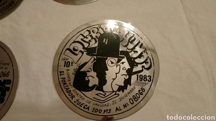 Carteles: LOTERÍA DEL HUMOR, 1983,_ÚNICAS, ACERO INOXIDABLE, 6 - Foto 2 - 106970834
