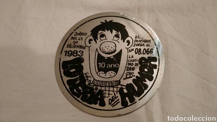 Carteles: LOTERÍA DEL HUMOR, 1983,_ÚNICAS, ACERO INOXIDABLE, 6 - Foto 3 - 106970834