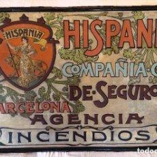 Carteles: HISPANIA.1MT .CARTEL CHAPA.BARCELONA .COMPAÑIA DE SEGUROS ACCIDENTES.AÑOS 1930. MODERNISTA.REPUBLICA. Lote 108325163