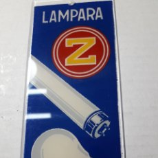 Carteles: CARTEL PUBLICIDAD LÁMPARAS ZETA METACRILATO ORIGINAL AÑOS 70. Lote 110078863