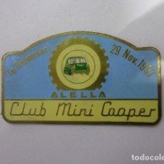 Carteles: CHAPA PLACA CLUB MINI COOPER ALELLA 1997. Lote 110421739