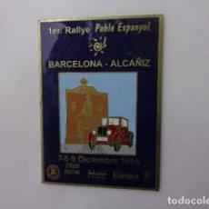 Carteles: PLACA METALICA 1 ER RALLYE BARCELONA- ALCAÑIZ 1995. Lote 110421779
