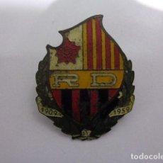 Carteles: PLACA CHAPA DEL REUS DEPORTIU 1909-1959 FULBOL REUS DEPORTIU. Lote 110421879