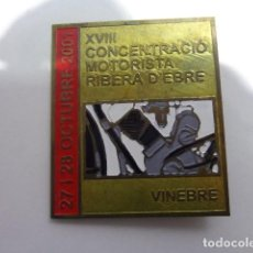 Carteles: PLACA CHAPA CONCENTRACION MOTORISTICA RIBERA D EBRE AÑO 2001. Lote 110422087
