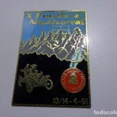 Carteles: PLACA METALICA CAR CLUB DE CATALUÑA 1991 PUJADA A MONTSERRAT. Lote 110422235
