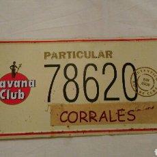 Carteles: PRECIOSA CHAPA VINTAGE, DE HAVANA CLUB, CON EL NOMBRE DEL PUEBLO ZAMORANO . CORRALES DEL VINO . VER. Lote 110501054