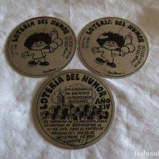 Carteles: LOTERIA DEL HUMOR AÑO 1987-88 EN ACERO INOXIDABLE LITOGRAFIADO. Lote 110851615