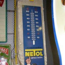 Carteles: TERMÓMETRO NETOL. ORIGINAL. AÑOS 50-60S. Lote 111414159