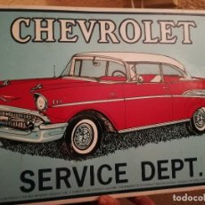 Carteles: CARTEL CHAPA CHEVROLET SERVICE DEPT. 44 X 29 CM. Lote 111546759