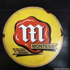 Carteles: CHAPA HIERRO MONTESA. Lote 155334541