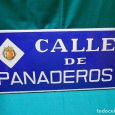 Carteles: ANTIGUA PLACA DE CALLE O CHAPA ESMALTADA - CALLE DE PANADEROS - VALLADOLID -. Lote 112006603