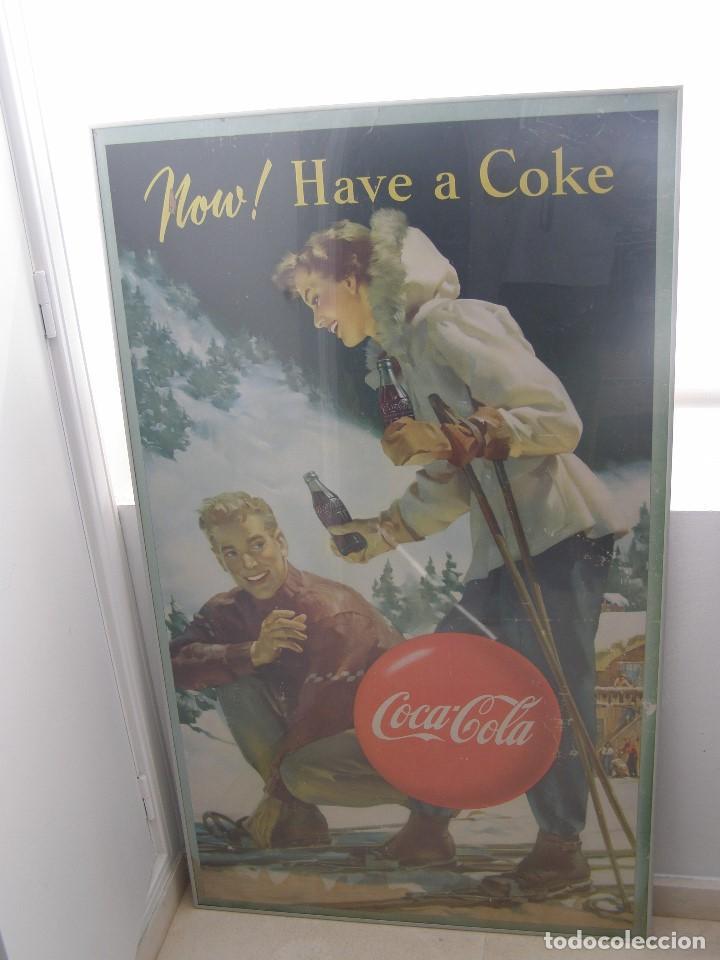 EXCEPCIONAL CARTEL COCA-COLA ORIGINAL DE 1950S (NOW! HAVE A COKE). USA (Coleccionismo - Carteles y Chapas Esmaltadas y Litografiadas)