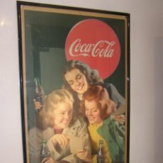 Carteles: IMPRESIONANTE CARTEL COCA-COLA ORIGINAL DE 1948 (FRIENDLY PAUSE). USA. Lote 112025427