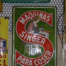 Plakate - Magnífica Chapa Singer esmaltada. Original de los años 1950s. Máquina de Coser. - 112025747
