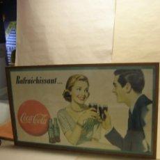 Carteles: CARTEL COCA-COLA FRANCÉS RAFRAICHISSANT, ORIGINAL AÑOS 1950S.. Lote 112025899