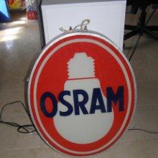 Carteles: LUMINOSO OSRAM A DOBLE CARA. 60´S. 60 X 48 CM. Lote 112805475