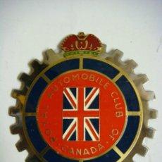 Carteles: PLACA ESMALTADA METALICA DE AUTOMOBILE CLUB ROYAL CANADA OF.(#). Lote 112827127