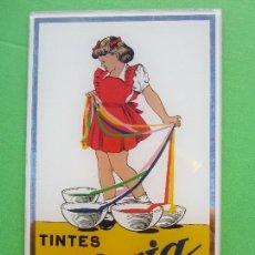 Carteles: ESPEJO PUBLICIDAD TINTES IBERIA , ORIGINAL AÑOS 50 , EDITA SIMO , BARCELONA , . Lote 112842907