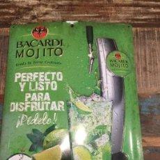 Carteles: CARTEL CHAPA BACARDI MOJITO .. Lote 113480083