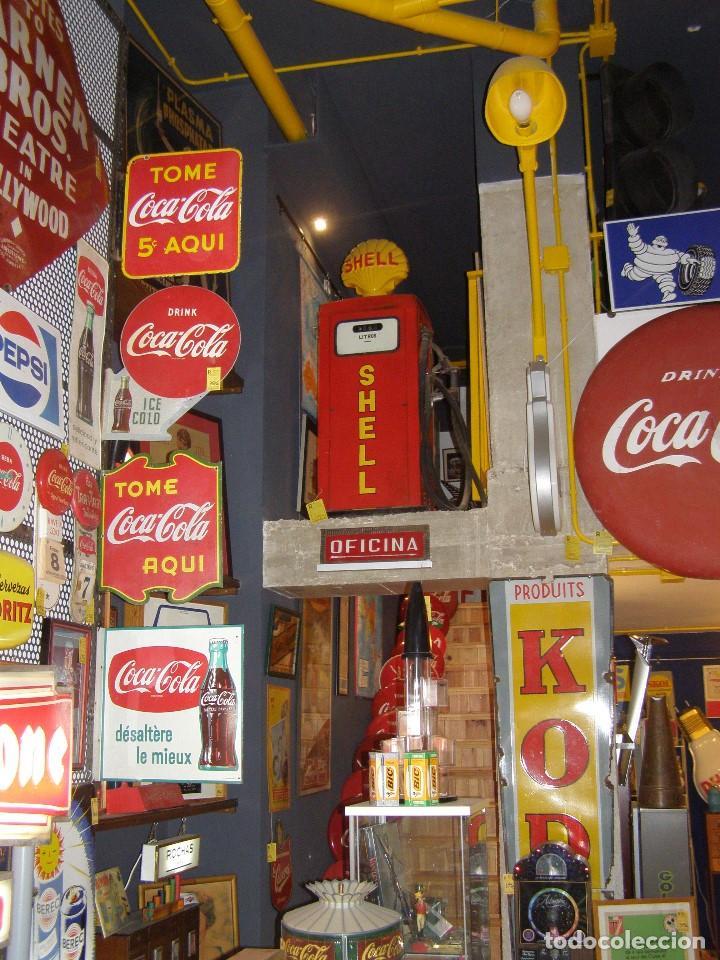 Carteles: Banderola Chapa Coca-Cola francesa doble cara. Désaltère la mieux. Original de 1950s. Buscada. - Foto 4 - 113523147