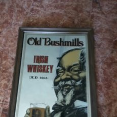 Carteles: ESPEJO WHISKY OLD BUSHMILLS IRIS WHISKEY 60X45 CMS. Lote 113669460
