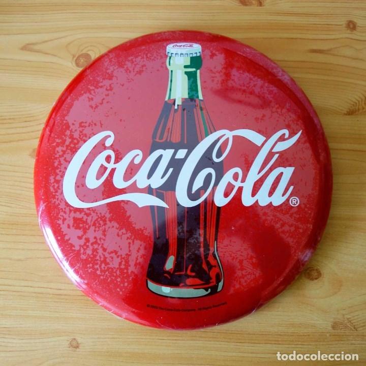 Coca cola placa de chapa met lica redonda de p comprar - Chapa coca cola pared ...
