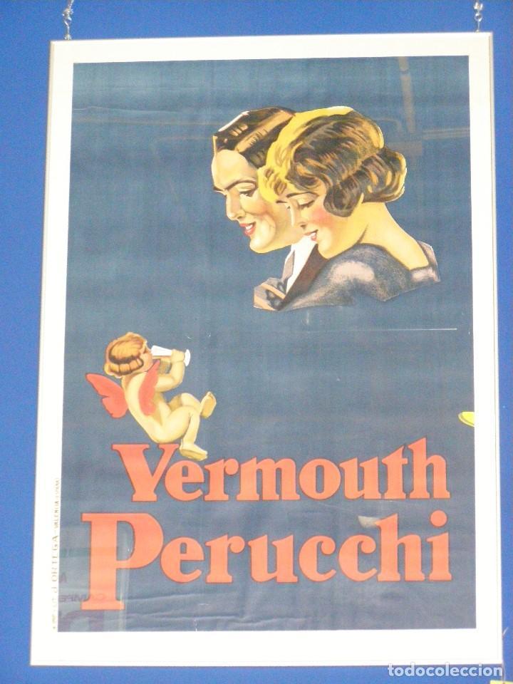 GRAN CARTEL VERMOUTH PERUCCHI. ORIGINAL DEL 1920. LIT. ORTEGA. UN CLÁSICO. (Coleccionismo - Carteles y Chapas Esmaltadas y Litografiadas)