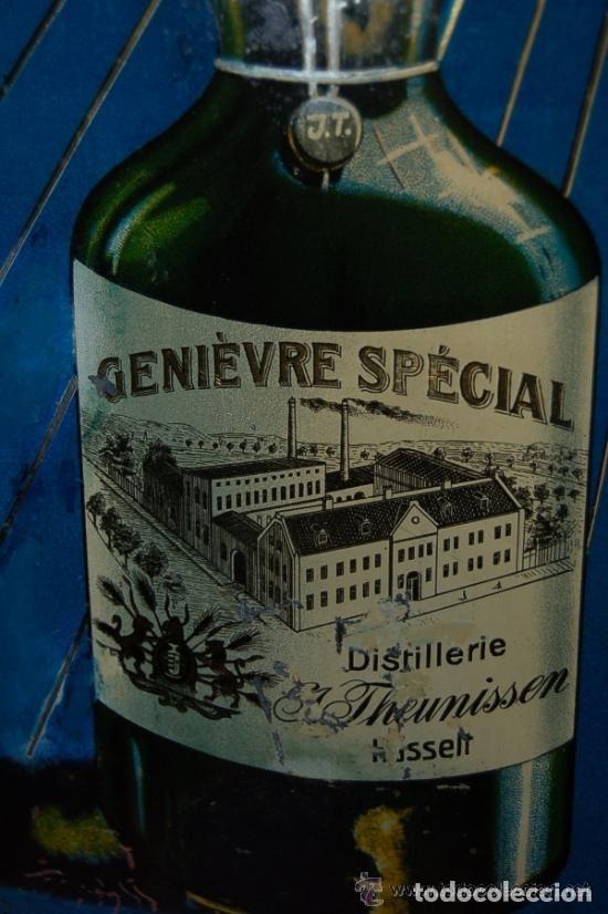 Carteles: Chapa Placa Publicidad Genievre Special. Bélgica. Original. Rara. - Foto 3 - 114050759