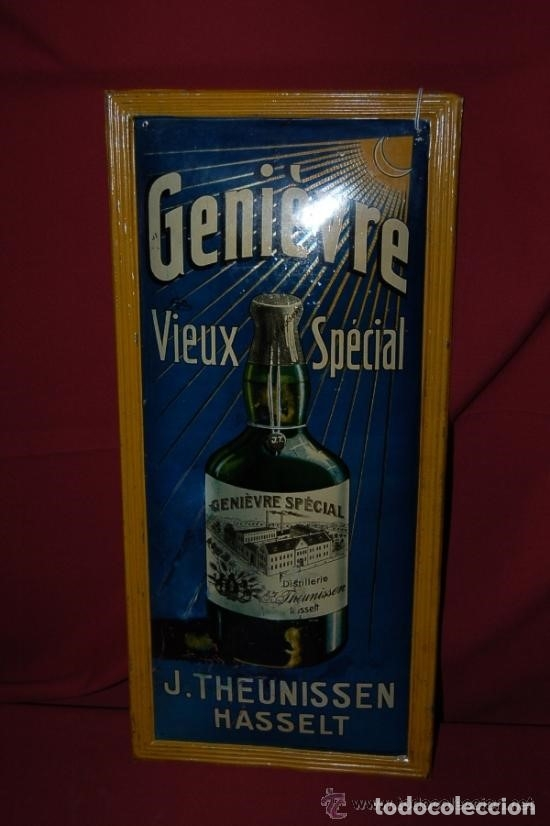 Carteles: Chapa Placa Publicidad Genievre Special. Bélgica. Original. Rara. - Foto 6 - 114050759