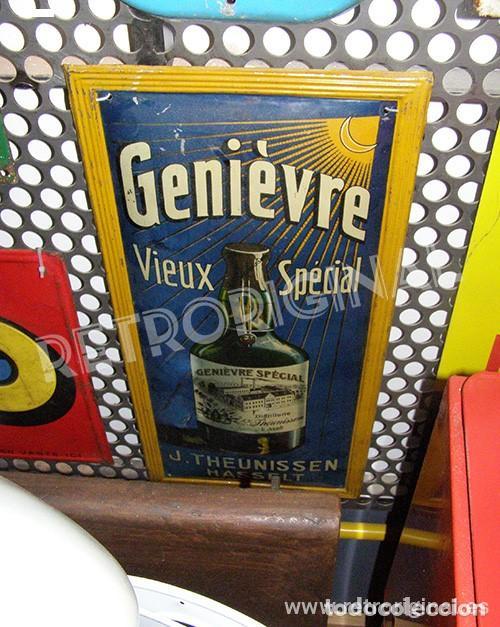 Carteles: Chapa Placa Publicidad Genievre Special. Bélgica. Original. Rara. - Foto 11 - 114050759