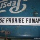Carteles: PLACA ESMALTADA SE PROHIBE FUMAR. MIDE 30X5,5CMS. ORIGINAL.. Lote 117672006