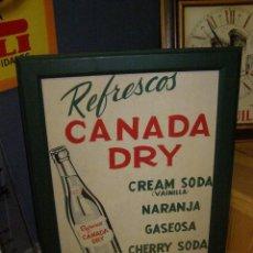 Carteles: ANTIGUO CARTEL CANADA DRY, DE CARTÓN. ORIGINAL DE 1960S. ESPAÑOL.. Lote 114718667