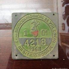 Carteles: ARBITRIO RODAJE 1968 VALENCIA - MATRICULA CHAPA. Lote 116077831