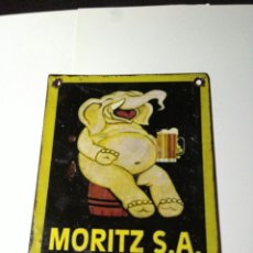 Carteles: CHAPA MORITZ (PEQUEÑA). Lote 116115330