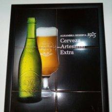 Carteles: CUADRO DE CERVEZA ALHAMBRA. Lote 116138060