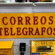 Carteles: CARTEL ORIGINAL CORREOS TELÉGRAFOS RESTAURADO TOTALMENTE.. Lote 116146256