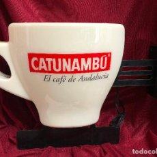Carteles: LUMINOSO CAFÉ CATUNAMBÚ CON FORMA DE TAZA. EL CAFÉ DE ANDALUCÍA. FUNCIONANDO. ORIGINAL. Lote 116952831