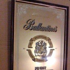 Carteles: CUADRO ESPEJO BALLANTINES SCOTCH WHISKY 32 X 22 CM. Lote 117021407