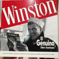 Carteles: PRECIOSO CARTEL ANTIGUO DE PLASTICO TABACO WINSTON EL GENUINO 40 X 40 . Lote 117303927
