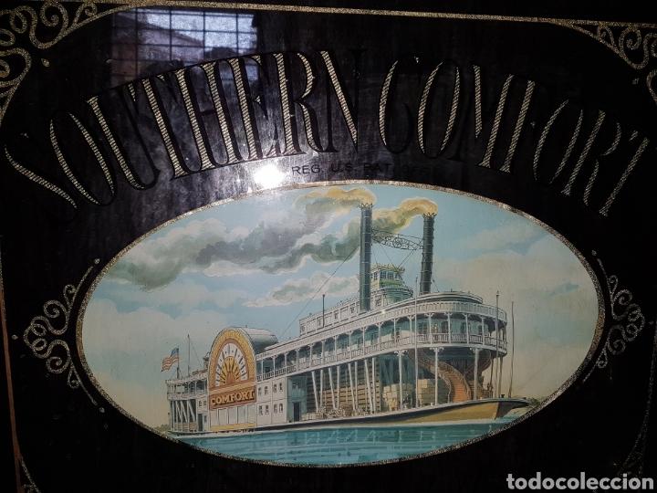 Carteles: Antiguo espejo publicitario bebida southern comfort - Foto 3 - 117646627