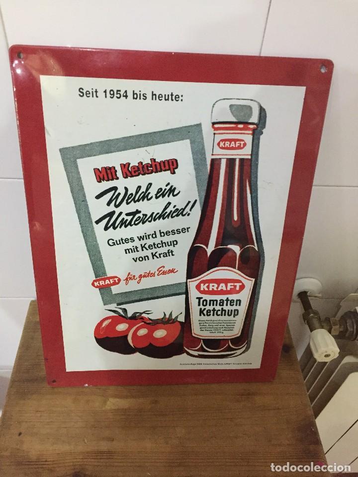 Carteles: Chapa publicitaria ketchup kraft 30cm x 40cm - Foto 2 - 118122091