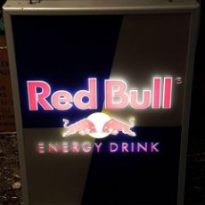 Carteles: PRECIOSO CARTEL LUMINOSO DE RED BULL ENERGY DRINK, FUNCIONA PERFECTO SIN GOLPES, 58 X 44 X 7.5 CMS. Lote 182358145