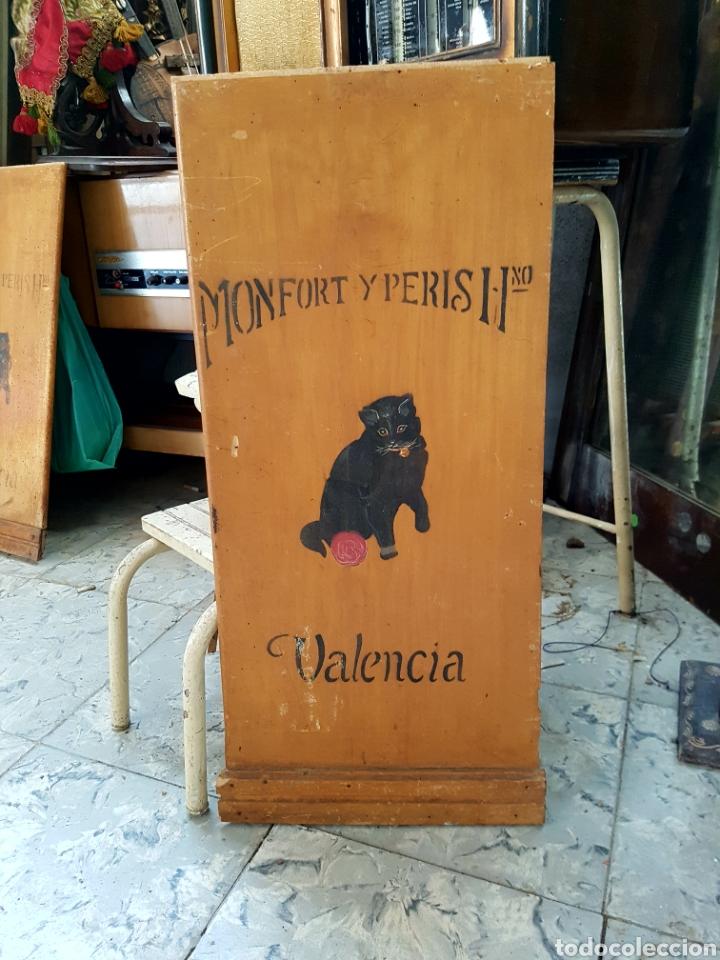 Carteles: MONFORT Y PERIS, VALENCIA, PUBLICIDAD O PARTE DE MUEBLE, DECORADO A MANO. 29x68cm - Foto 6 - 118288220
