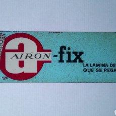Carteles: CARTEL DE CHAPA AIRON-FIX. MEDIDAS 33 CM X 8 CM.. Lote 118466272