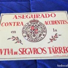 Carteles: CHAPA LITOGRAFICA MUTUA SEGUROS TARREGA GOTTARDO DE ANDREIS 1961. Lote 126881687